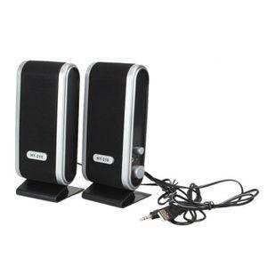HAUT-PARLEUR - MICRO 2 Pcs USB Haut-parleurs stéréo 3.5mm avec Oreille