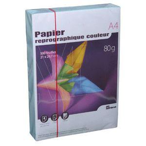 PAPIER IMPRIMANTE Ramette papier couleur A4 First 80g - Bleu