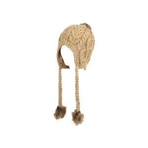 BONNET - CAGOULE Bonnet péruvien Peruvien beige pompon