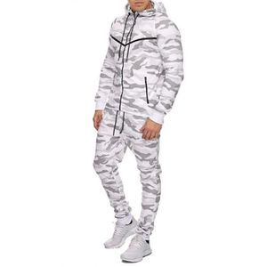 SURVÊTEMENT Ensemble camouflage jogging blanc