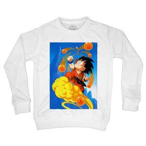 Fabulous Sweat-Shirt Homme Sangoku Goku Original Dinosaure Baton Magique kinto Dragon Ball Manga