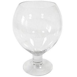 VASE - SOLIFLORE Vase verre ballon transparent 25cm (x1) REF/VER204