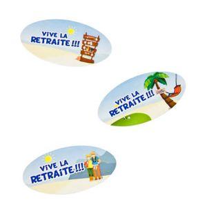 Décors de table Confettis de table vive la retraite (x9grs) REF/AR