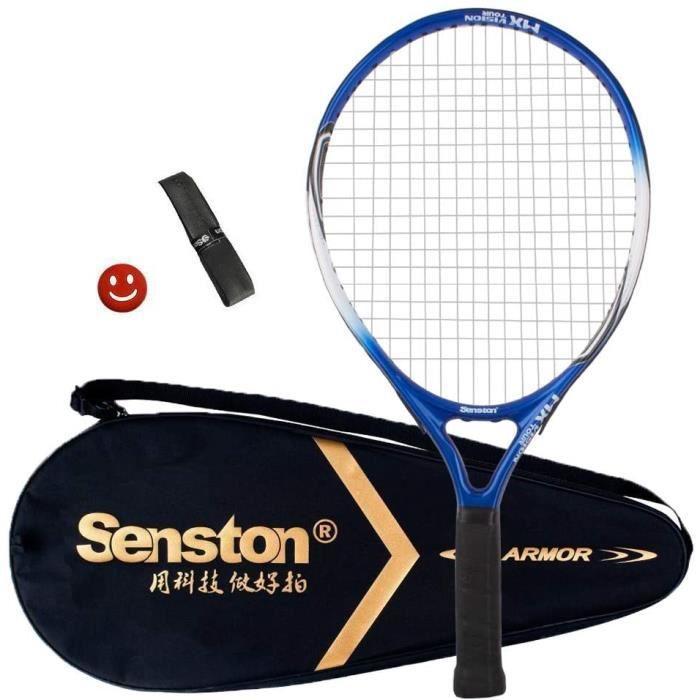 Raquette de Tennis pour Débutants Raquette de Tennis Enfants/Junior, Compris Sac de Tennis Surgrip Amortisseur de Vibrations