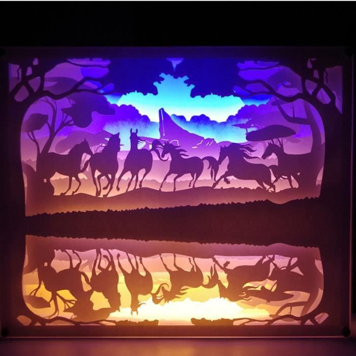 Creative Art Décor Lampe Night 3D lampe de papier peint peinture Tableau LED HJF90826154B