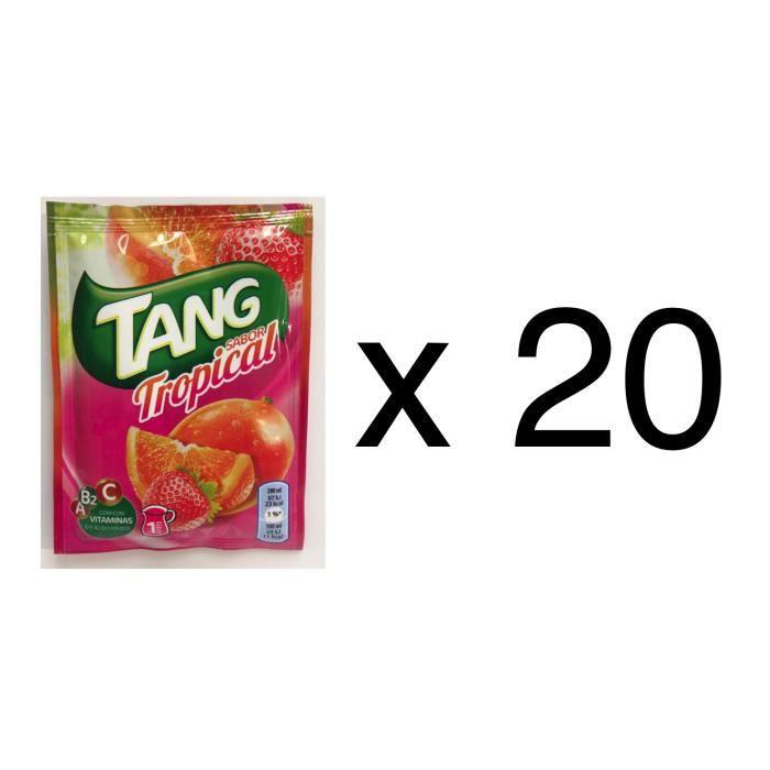 20 sachets de tang gout tropical, soit 20 litres de jus de fruit