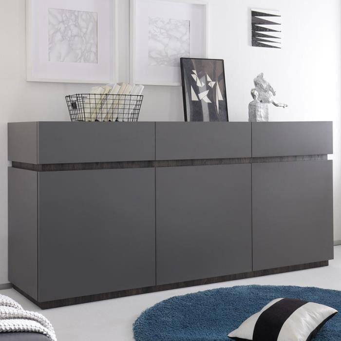 Bahut design gris laqué mat VALERONA