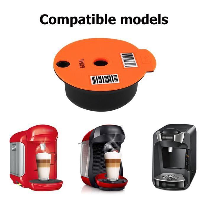 Capsules de café bosch-s Tassimo 60-180ML, panier à filtre en plastique réutilisable, dosette, Machine à café, [6C78FAB]