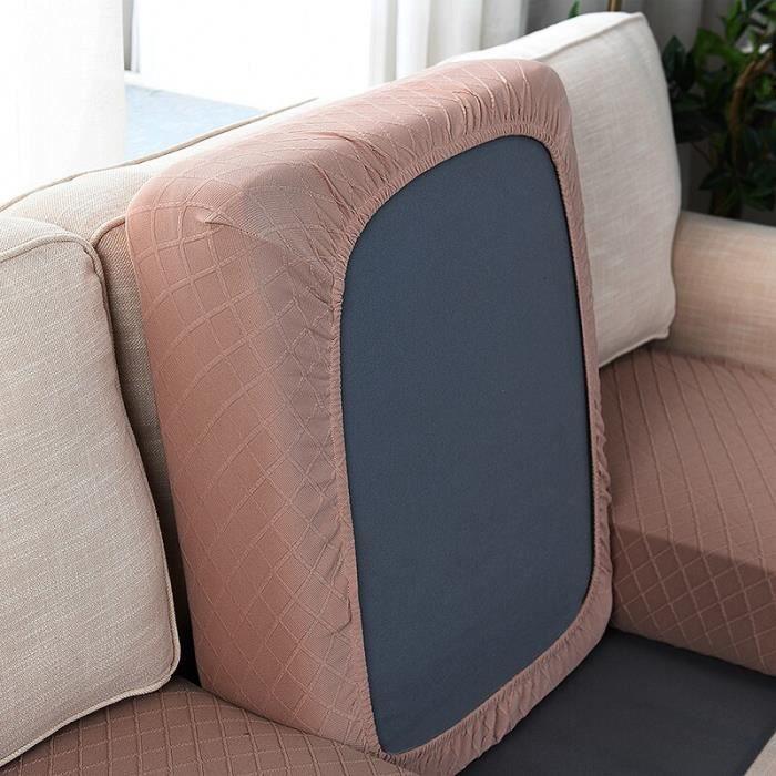 Housse de protection pour canapé, Plaid, grande taille, élastique, couleur unie, coussin de dossier, pour salon, pour [E52B4B4]