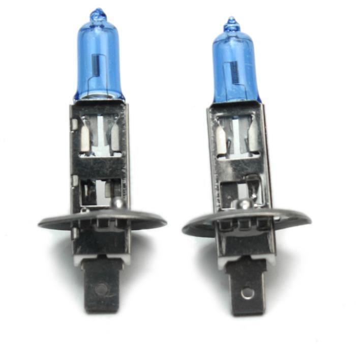 2x H1 Ampoule Feux Blanc Halogène De Auto Voiture Lampe 4500-6500K 12V 100W