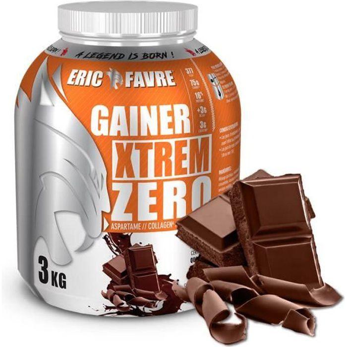 Eric Favre - Gainer Xtrem Zero - Protéines prise de masse - Chocolat - Gainers - Chocolat