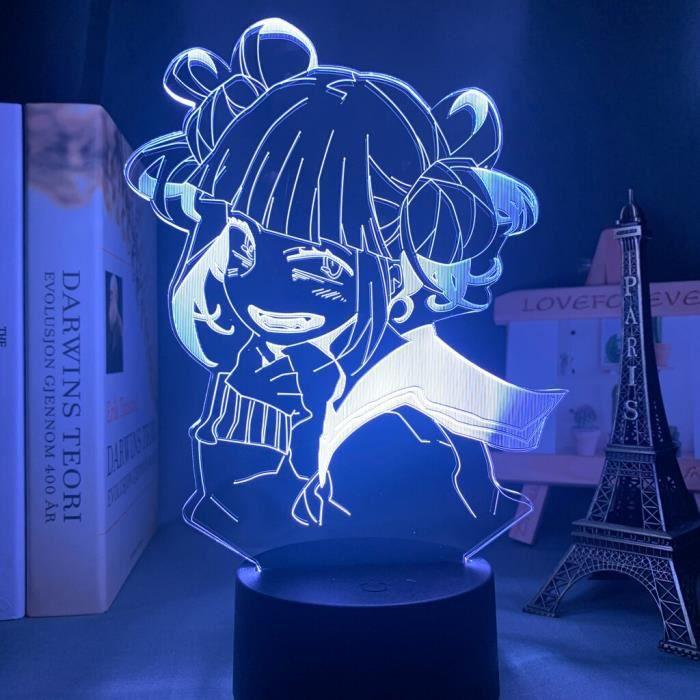 Lampe Led Himiko Toga, Anime My Hero Academia, veilleuse pour chambre à coucher, décor, cadeau anniversaire~16 S31566188