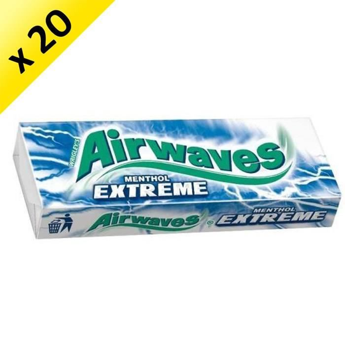 [LOT DE 20] WRIGLEY'S SPEARMINT Etui 10 Dragées Extreme Airwaves