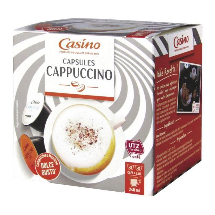 CASINO Capsules cappuccino - 16x 240 ml