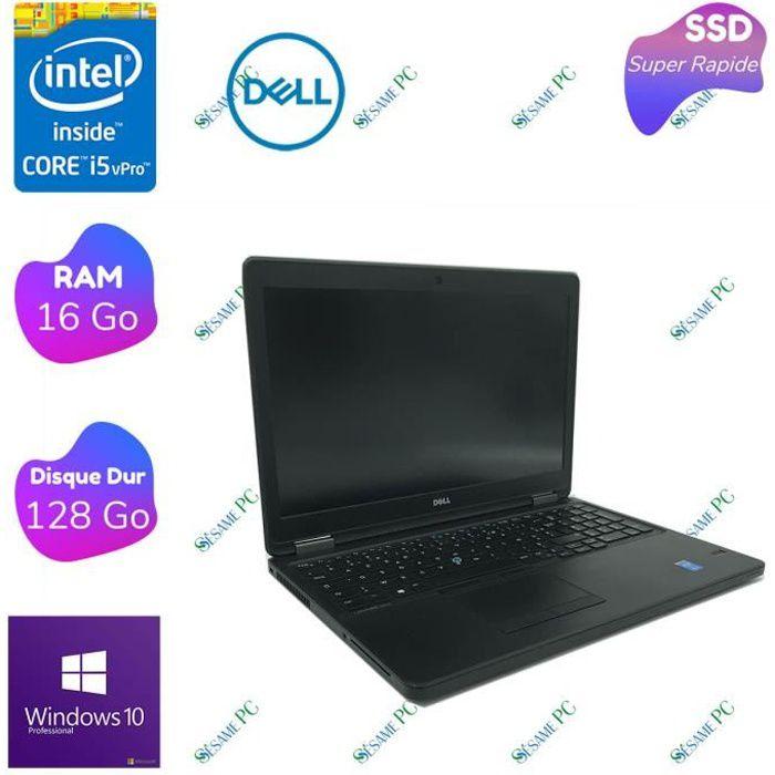 Dell Latitude E5550 - Intel Core i5 5200U - RAM 16 Go - SSD 128 Go - 15.6- FHD - Windows 10 professionnel - ORDINATEUR PORTABLE