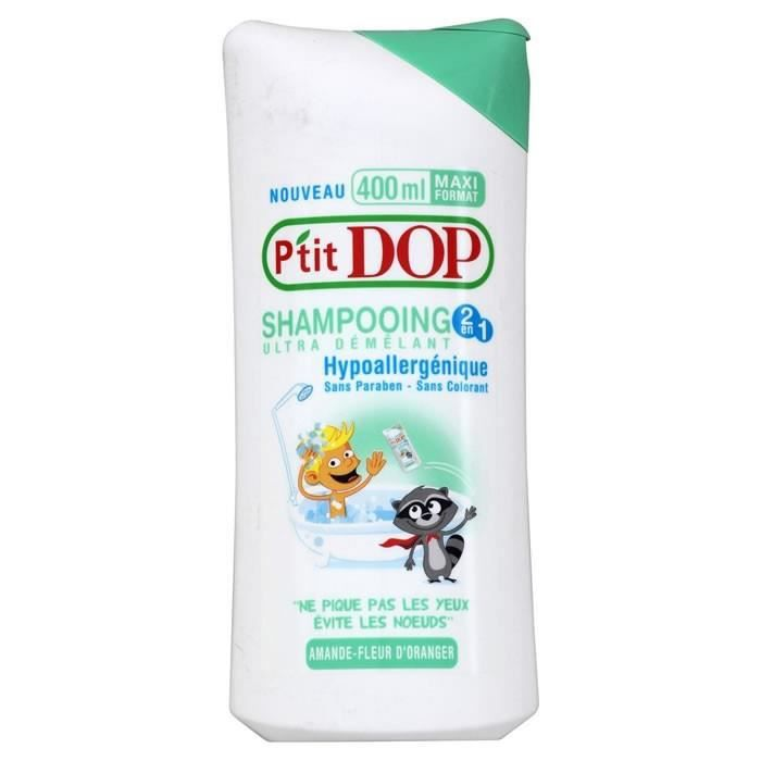 P'TIT DOP : Shampooing ultra démêlant 2en1 Amande Fleur Oranger - 400ml