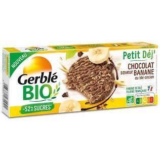 GERBLE BIO Petit déj' saveur chocolat banane au blé ancien
