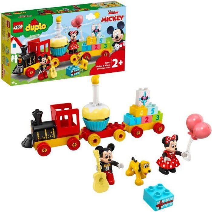 LEGO® 10941 DUPLO Disney Le Train d'Anniversaire de Mickey et Minnie Jouet pour Enfant de 2 ans et plus avec Train et Figurines
