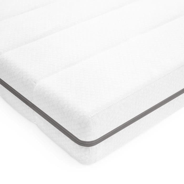Matelas 90x190 cm matelas confort mousse 7 zones de confort pas cher housse lavable matelas réversible, épaisseur 15 cm