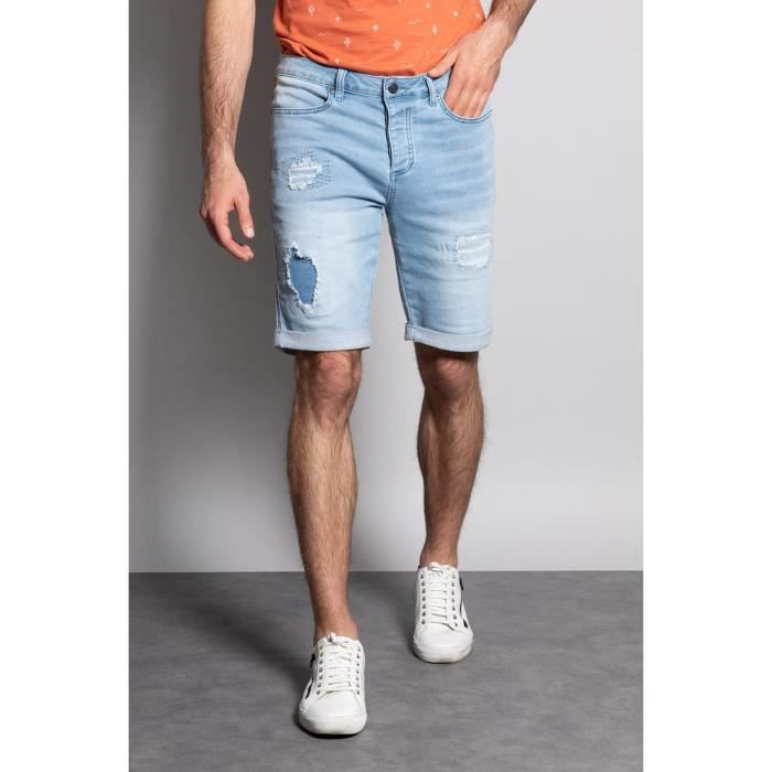 DEELUXE Short slim jogg jean délavé BULLET Bleach Used