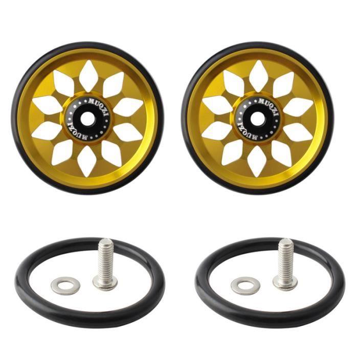 1 ensemble de roue facile en alliage d'aluminium de vélo pliant compatible pour Brompton VELO ASSISTANCE ELECTRIQUE