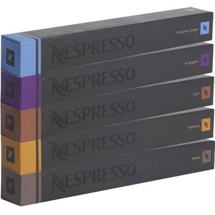 Nespresso Lot de Café Varié - 50 Capsules