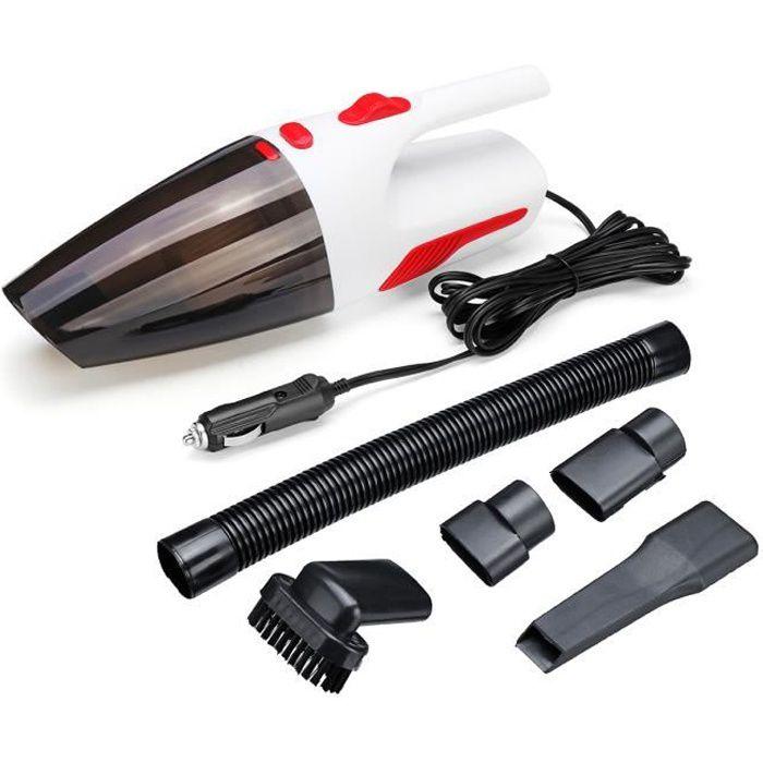 12V 120W Voiture Aspirateur Portable Sol Humide et Sec Tapis de Nettoyage Blanc