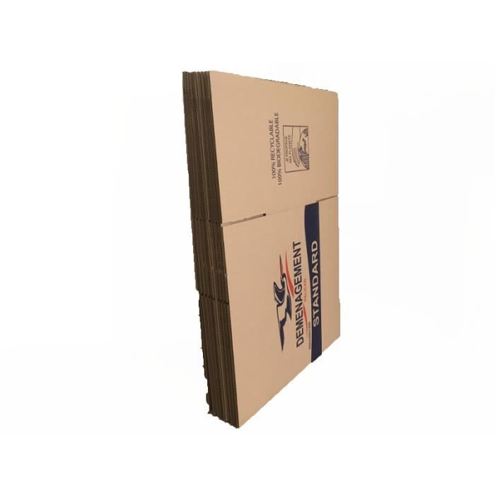 Lot de 10 cartons de déménagement
