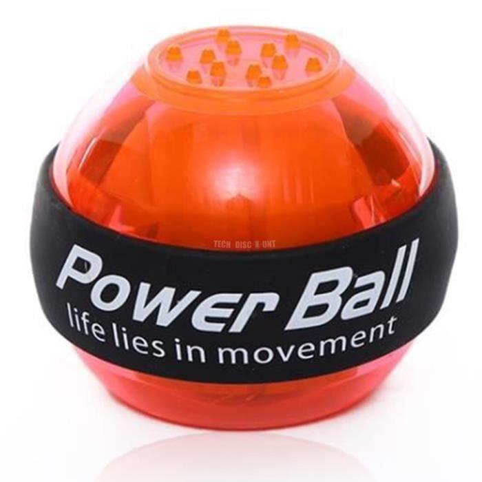 TD® Accessoires Fitness - Musculation,Entraîneur de balle de poignet de balle de puissance musculaire de LED - Type orange