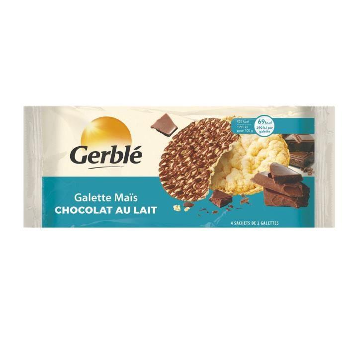 GERBLE Galette de maïs au chocolat au lait - 124 g