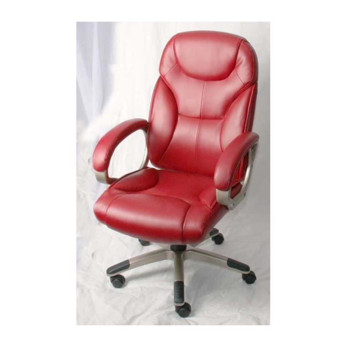 fauteuil de bureau de couleur rouge achat vente fauteuil cdiscount. Black Bedroom Furniture Sets. Home Design Ideas
