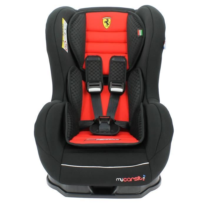 si ge auto ferrari inclinable 0 18 kg avec protections lat rales made in france 3 toiles test. Black Bedroom Furniture Sets. Home Design Ideas