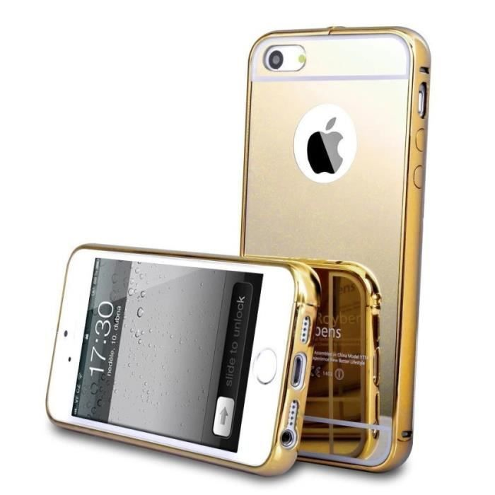 coque iphone 5s mirroir or 1002x ref 16994