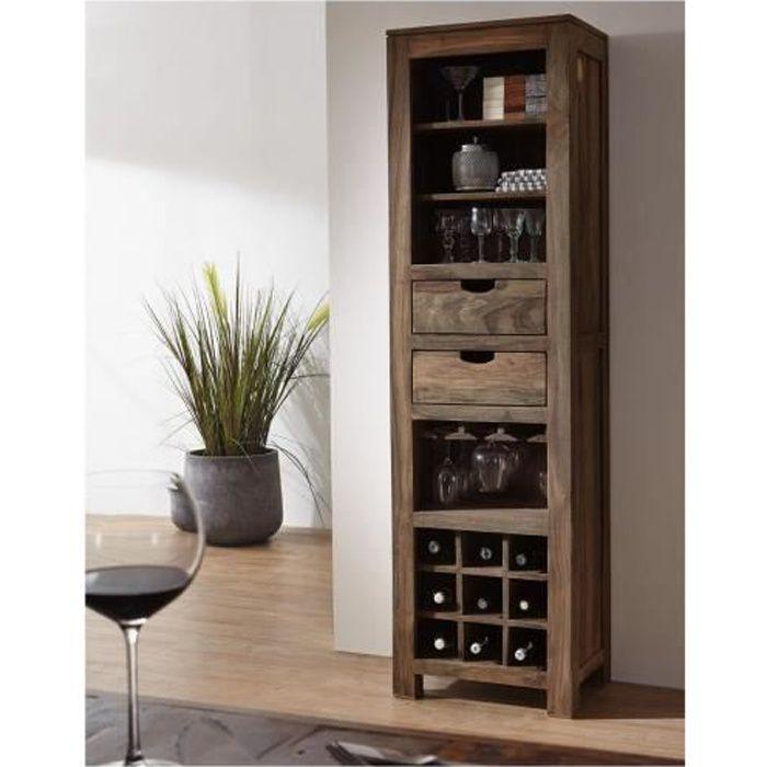 MEUBLE RANGE BOUTEILLE Étagère à vin, Bois Massif de Sheesham-Palissandre