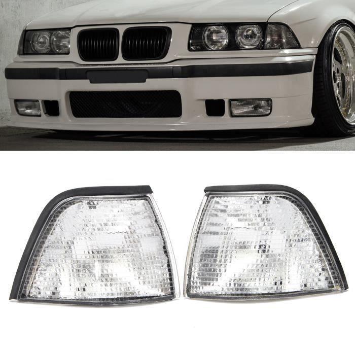 2 PHARES ANGEL EYES BMW SERIE 3 E36 CABRIOLET COUPE 1992-1999 CCFL NOIR
