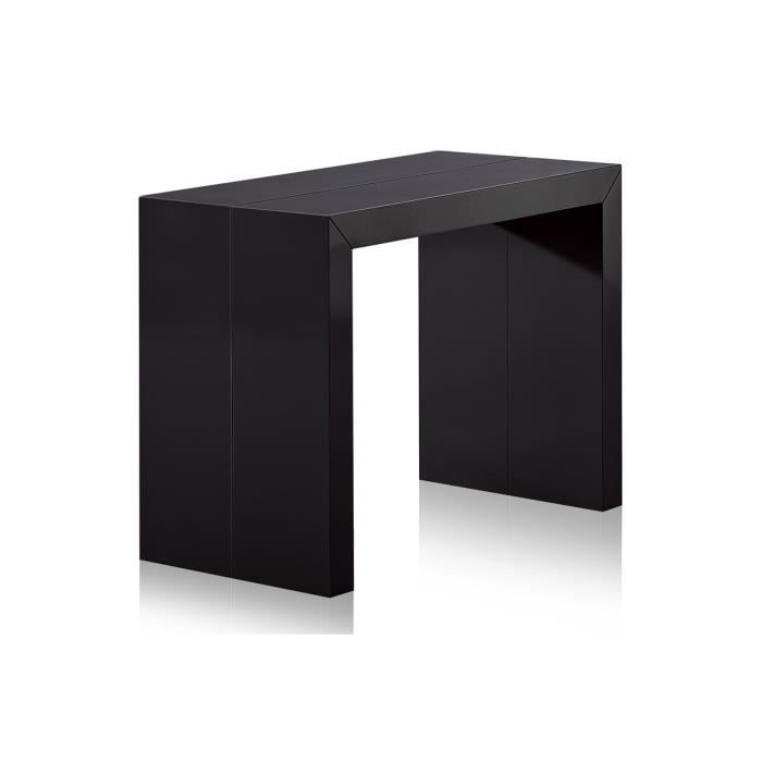 console extensible pas cher 3 rallonges noire l meubles. Black Bedroom Furniture Sets. Home Design Ideas