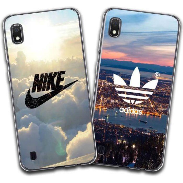 2 X Coque Samsung Galaxy A10, Nike et Adidas Doux