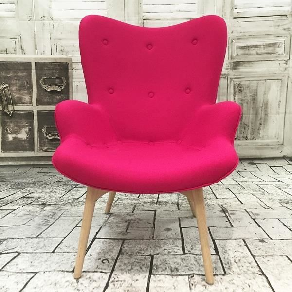 fauteuil ange design en laine rose fushia achat vente fauteuil cdiscount. Black Bedroom Furniture Sets. Home Design Ideas