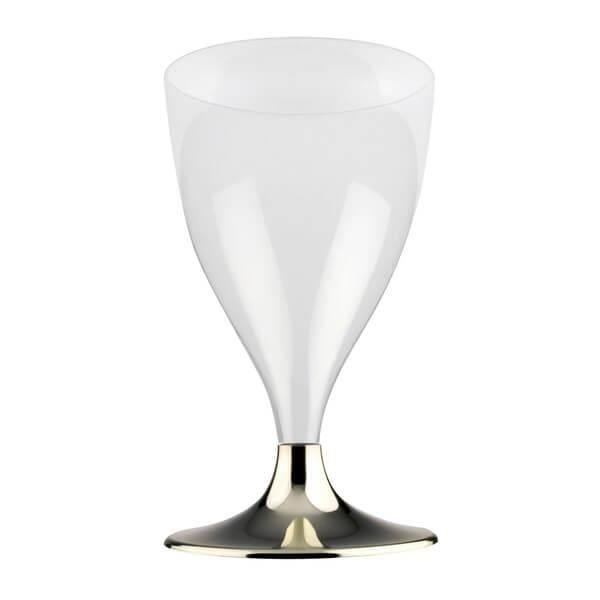 Verre à eau - Soda Verre à pied or chromé 200ml (x10) REF/67593