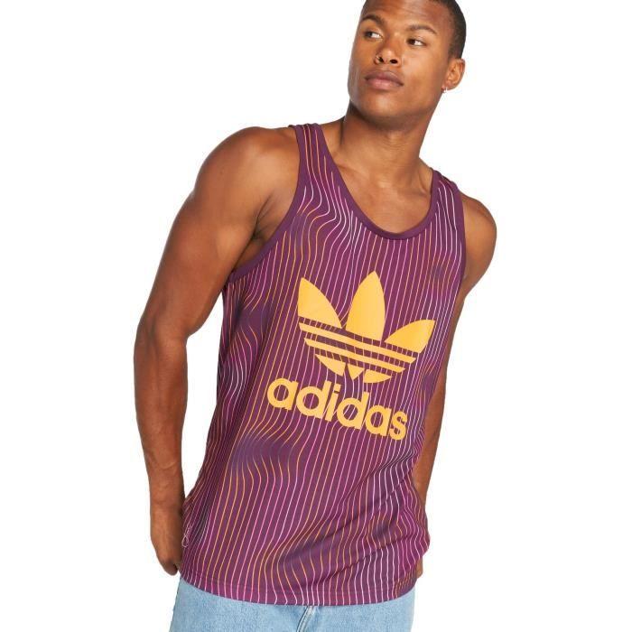 Adidas originals Homme Hauts / Débardeur Trefoil Pourpre ...