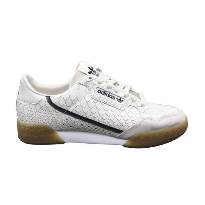 best website 29413 fe873 ADIDAS CONTINENTAL 80 SNEAKERS BIANCO BEIGE D96659 (40 - BIANCO)