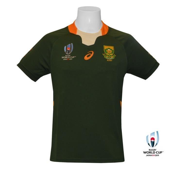 Asics Maillot Rugby Afrique du Sud Domicile 2018//2019 Enfant