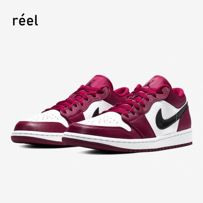 """Air Jordan 1 Low """"Noble Red"""" 553558-604 Rouge - Cdiscount Chaussures"""