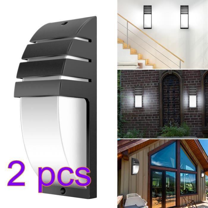 2pcs 8w Led Applique Murale Exterieur Anti Eau Ip65 Reglable Moderne Design Blanc Froid 6000 6500k Chambre Maison Couloir Salon