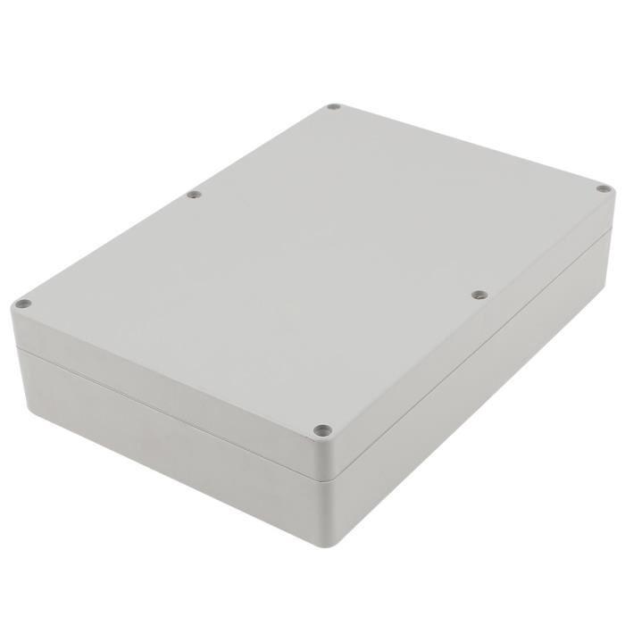 Boîtier étanche en plastique gris cas raccordement câblage électronique à monter