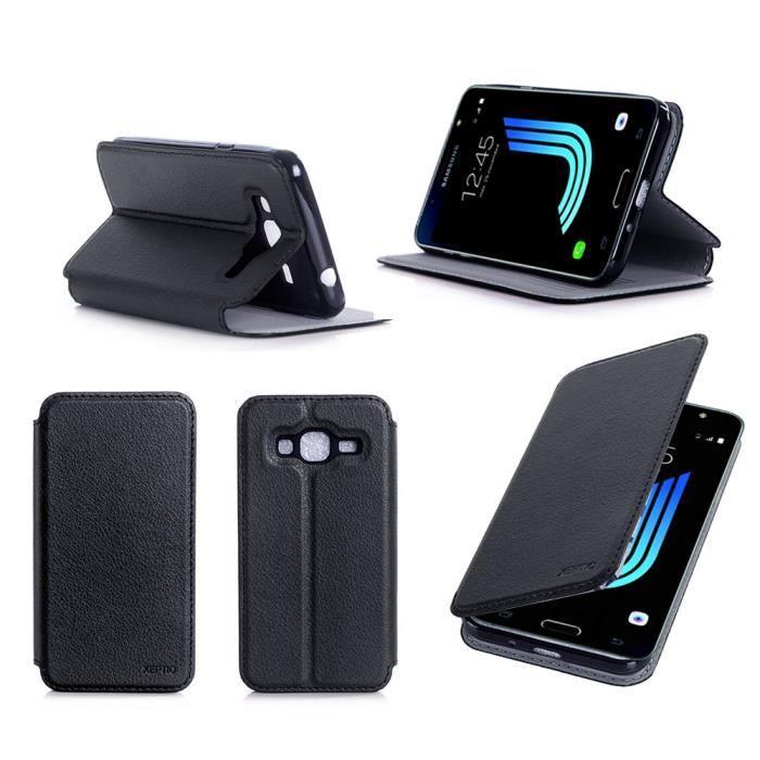Etui coque Samsung Galaxy J3 2016 noir 4G - Housse