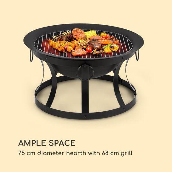 Foyer Avec Etincelles Protection Un Panier Brasero Barbecue Feu