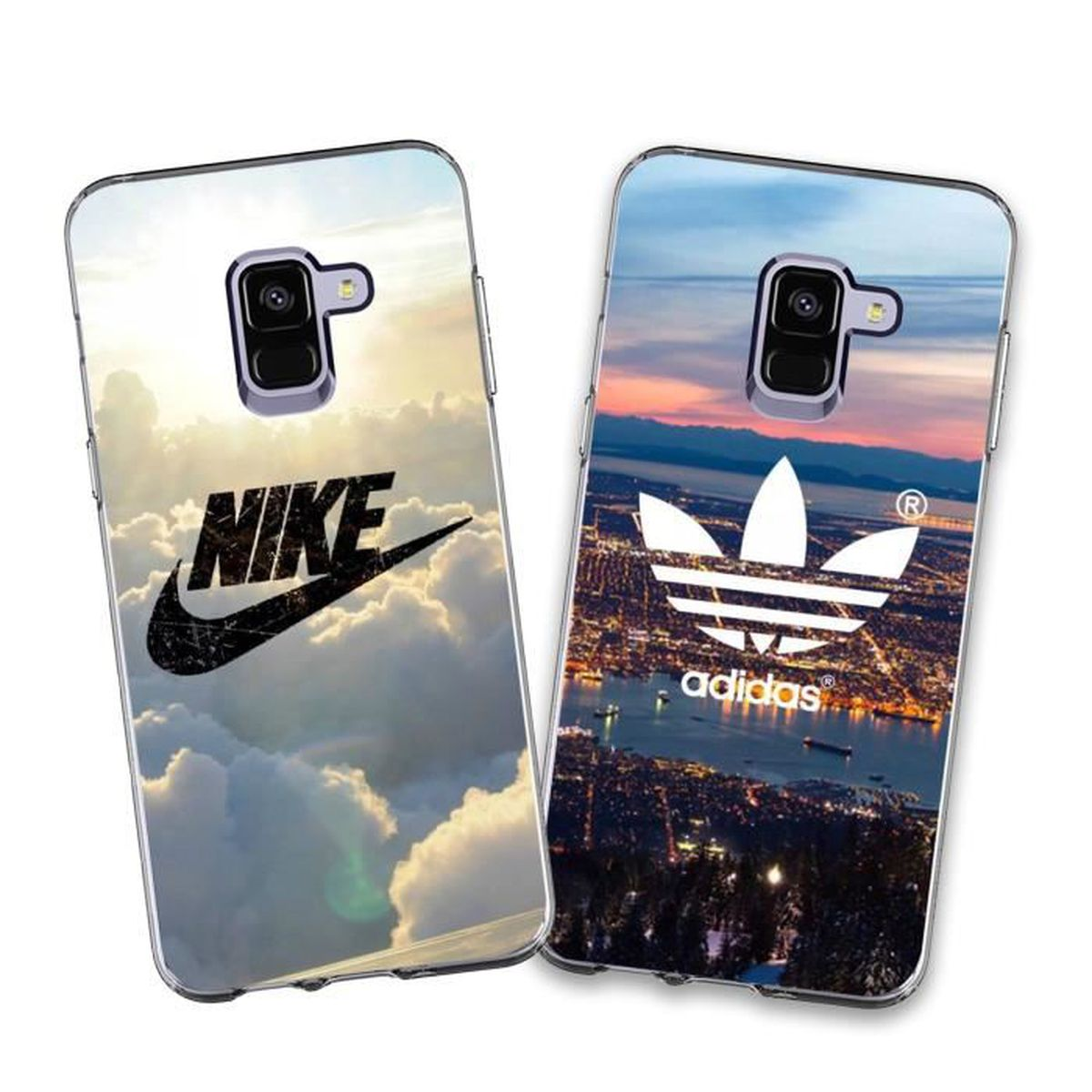 multiple colors free delivery fashion styles 2 X Coque Samsung Galaxy A8 2018,Nike et Adidas Doux Souple ...