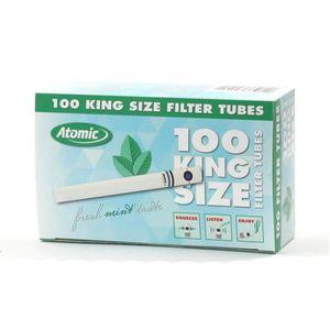 TUBE À CIGARETTE Boite de 100 Tubes a Capsule Fresh Mint - Atomic