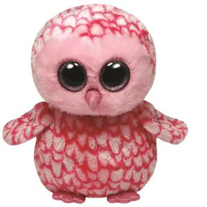 PELUCHE TY - BEANIE BOO'S Peluche Pinky Chouette 23cm